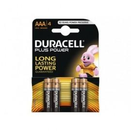 Pilas alcalinas equivalencia AA LR6 Duracell (4 unidades)