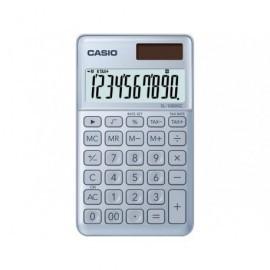 CASIO Calculadora Bolsillo 10 Dig Gris Azulado SL-1000SC-BU