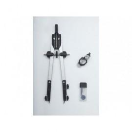 FABER CASTELL Compás ajuste rápido con tornillo central y articulaciones en ambos brazos 32722-8