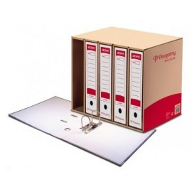 PERGAMY Contenedor archivo definitivo Para 5 cajas Folio 566 x 399 x 266mm Kraft