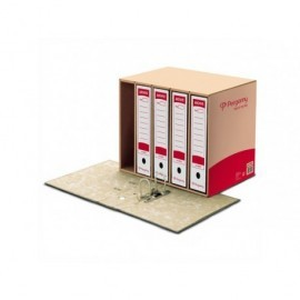 PERGAMY Contenedor archivadores palanca Para 5ud Folio Kraft