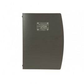 SECURIT Porta menús de plástico negro MC-RCA4-BL-FK