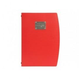 SECURIT Porta menús de plástico rojo MC-RCA4-RD-FK
