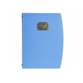 SECURIT Porta menús de plástico azul MC-RCA4-BU-FK