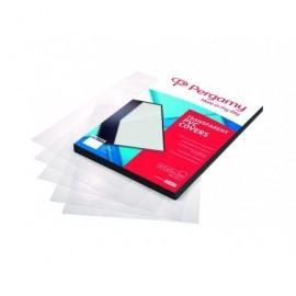 PERGAMY Pack 100 Portadas Pvc A4 200M Transparente 900050