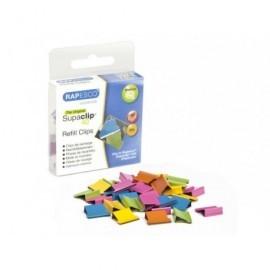 RAPESCO 50 Supaclip®40 de repuesto multicolores. Capacidad para 40 Hojas. RC4050MC