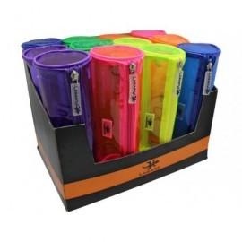 LAGART Portatodo PVC con cremallera. 6 colores surtidos. Medidas: 23 X 7,5Ø 325229