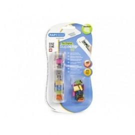 RAPESCO Supaclip® 40 Dispensador Translúcido con 25 Clips Multicolor. Capacidad 40 Hojas. RC4025MC