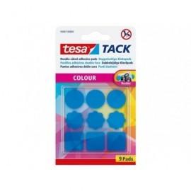 TESA Blister 9 almohadillas adhesivas en color azul 59407-00000-00