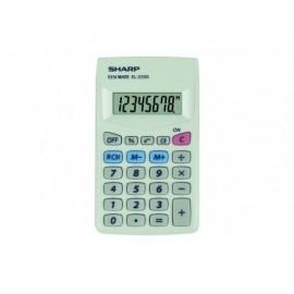 SHARP Calculadora bolsillo 8 Digitos Blanca Sh-El233S
