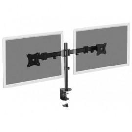 DIGITUS Soporte de monitor doble universal con conjunto de sujeción (hasta 27'') DA-90349