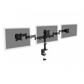 DIGITUS Soporte triple para monitor con fijación por abrazadera (hasta 27'') DA-90362