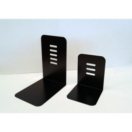 CILINDRO Sujetalibros de metal negro 220x140x18 V-12 NEGRO