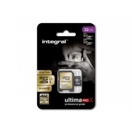 INTEGRAL Tarjeta de memoria ULTIMAPRO X GOLD MICRO SDHC/XC 32 GB INMSDH32G10-95/60U1