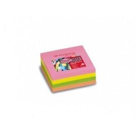 PERGAMY Cubo de notas reposicionables 76x76 colores neon 7100027290