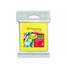 PERGAMY Blister 2 blocs amarillo y rosa neon 76x76