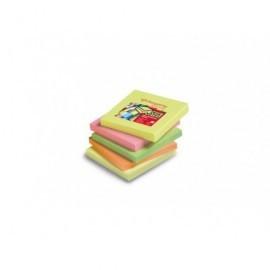 PERGAMY Bloc de notas reposicionables 76x76 colores neon 7100024820
