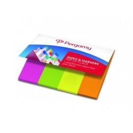 PERGAMY Marcadores de papel index 4 colores