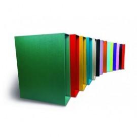 PERGAMY Cajetín archivador color 80mm folio blanco