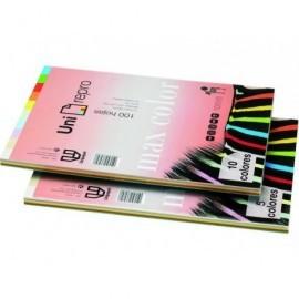 UNI-REPRO MAX COLOR Papel multifunción color 100h 80 g. A4 Surtido pálidos 49293
