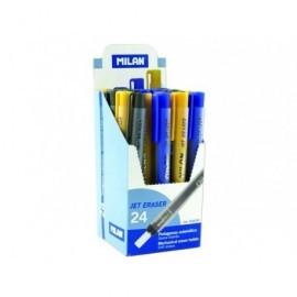 MILAN Portagomas Jet Eraser Goma nata Amarillo/azul/negro Automatico 3026324