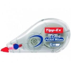 TIPP-EX Cinta correctora Mini pocket mouse 5mm.x6m. Opaca Cuerpo translucido 901817