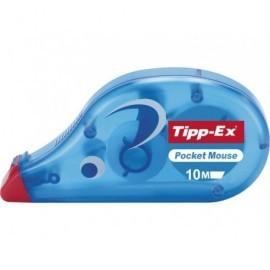 TIPP-EX Cinta correctora Pocket Mouse 4,2 mm x 10 m Frontal Con tapa protectora 8207892
