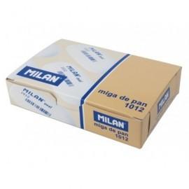 MILAN Goma de borrar 1012 Caucho sintetico suave Oval Para Lápiz, papel y papel vegetal CNM1012