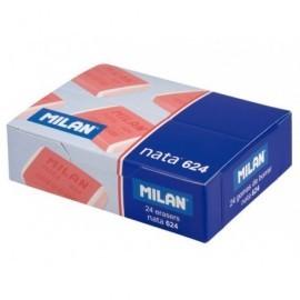 MILAN Goma de borrar CPM624 Plastica Blanca Para Lápiz, papel y papel vegetal CPM624