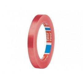 TESA Cinta   Embalaje 12 x 66mm Rojo PVC  04204-00050-00