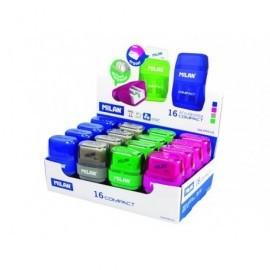 MILAN Afilaborra Compact Goma borrar   doble Azul, verde, gris o rosa Doble deposito 4703116