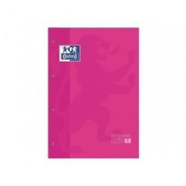 OXFORD Recambio de papel 80h A4 Cuadricula 5x5 Recuadro Rosa 100108305