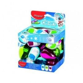 MAPED Afilalapiz Clean Doble Verde, rosa o azul Plastico 030211