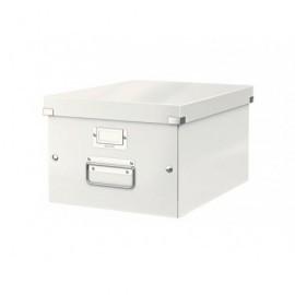 LEITZ Caja almacenamiento Click&Store A4 Asas+tarjetero Cartón plastificado 60440001