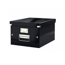 LEITZ Caja almacenamiento Click&Store 281X200X369 mm Negro Fibra de carton 60440095