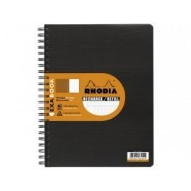 RHODIA Recambio de papel Exabook 80h A5+ cuadrícula 5x5 133572C