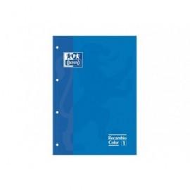 OXFORD Recambio de papel 80h A4 Cuadricula 5x5 Azul 100102760
