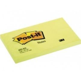 POST-IT Notas adhesivas 100h Amarillo neon 76x127mm FT510010216