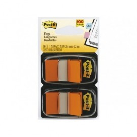 POST-IT Índices adhesivos Index Dispensador 50 ud 25,4x43,1  Naranja 70071392826