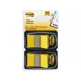 POST-IT Índices adhesivos Index Dispensador 50 ud 25,4x43,1  Amarillo 70071392834