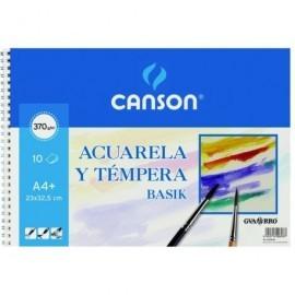 GUARRO CANSON Papel dibujo 6 Hojas 24x32 cm 370 Gr 200406347
