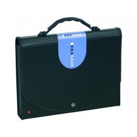 EXACOMPTA Carpeta clasificadora Exacase 13 compartimentos A4 Extensible Negro 55934E