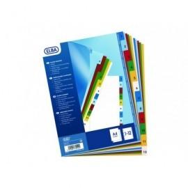 ELBA Separadores Elba Colores print 12 posiciones A4+ 100205086