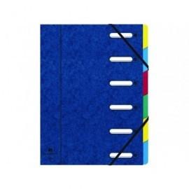 EXACOMPTA Carpeta clasificadora 12 posiciones A4 Con fuelle Azul Cartulina   55122E