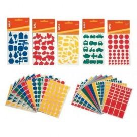 APLI Gomets Blister 12 hojas 1136 ud Figuras geometricas pequeñas 993