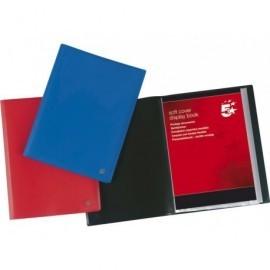 5* Carpetas fundas 20 fundas Roja Polipropileno 901163