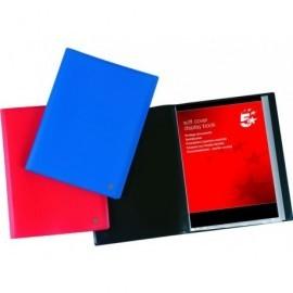 5* Carpetas fundas 10 fundas Azul Tapa Flexible 900605