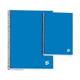 5* Cuaderno espiral 80h 8º Cuadricula 4x4 Azul 932075
