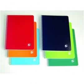 5* Cuaderno espiral 80h Folio Horizontal Surtido 932083