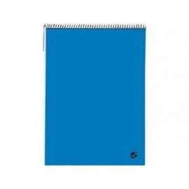 5* Bloc notas 80h Folio Liso Azul 931965